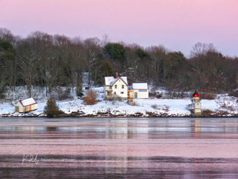 Squirrel Point Lighthouse Winter