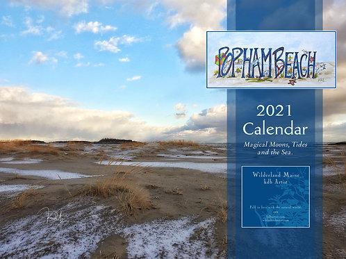 Popham Beach 2021 Calendar