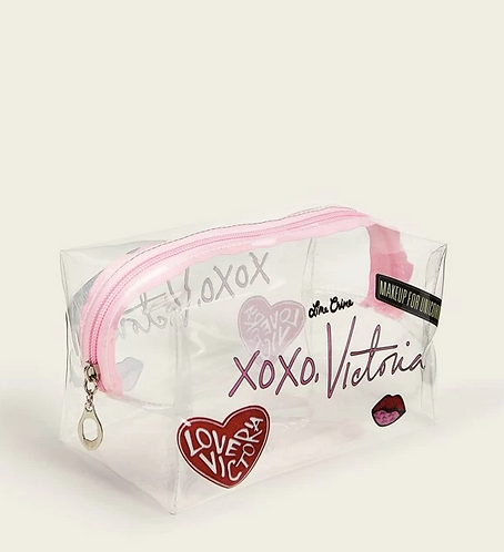Letter Transparent Makeup Bag