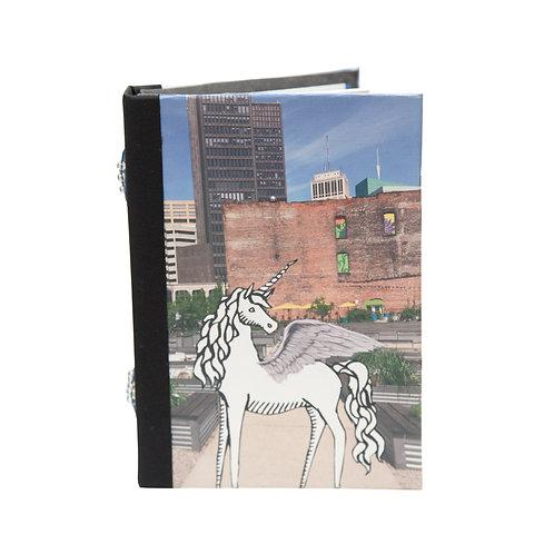 "Handmade 5""x7"" Detroit (paper) Dolls Mixed Media Collage Journal"