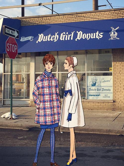 8x10 Photographic Collage Print / Dutch Girl Donut