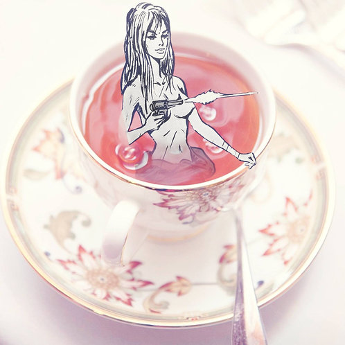 8x8 Photographic Collage Print/Teacup