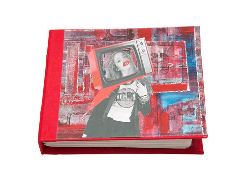 "Handmade 6""x5"" Detroit (paper) Dolls Mixed Media Collage Journal"