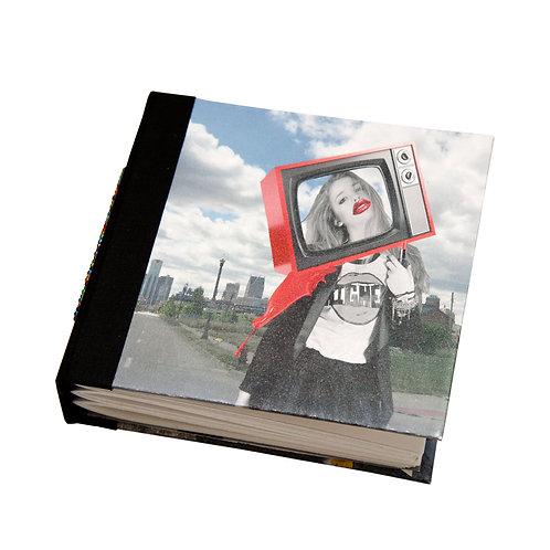 "Handmade 5""x5"" Detroit (paper) Dolls Mixed Media Collage Journal"