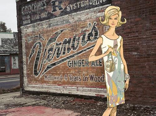 8x10 Photographic Collage Print / Vernor's Sign