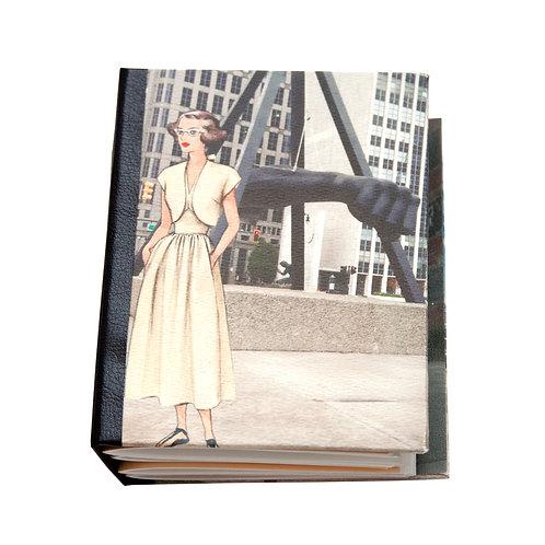 "Handmade 5""x7"" Detroit (paper) Dolls Photographic Collage Journal"
