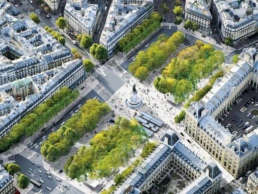 Urban Green-Blue Grid examples, Place de la République, Paris
