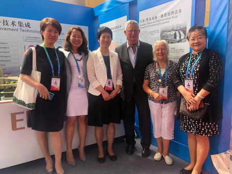 Eco-Floating project DEMO was displayed in The Kubuqi International Desert Forum, 2019
