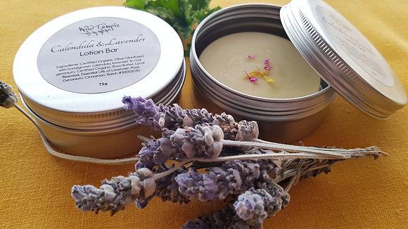 Organic Calendula & Lavender Lotion Bar ~ 75g