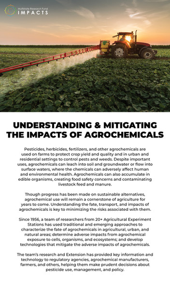 Mitigating the Impacts of Agrochemicals