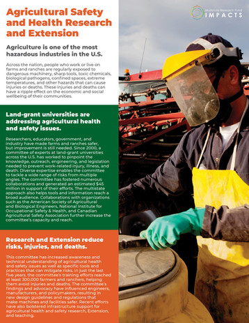 Agricultural Safety and Health Research and Extension