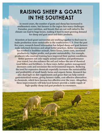 Raising Sheep & Goats in the Southeast (SCC-81   2012-2017)