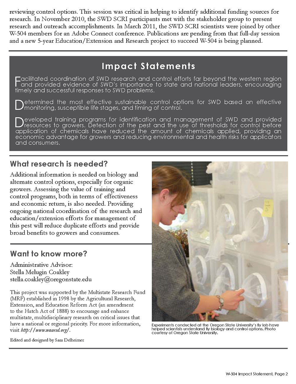 Click to view, download, or print a PDF of the Impact Statement