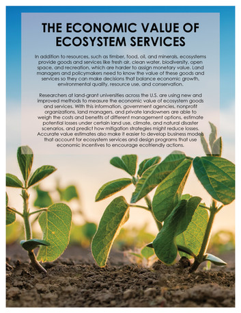 The Economic Value of Ecosystem Services (W-3133 | 2012-2017)