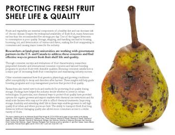 Protecting Fresh Fruit Shelf Life & Quality (NE-1336   2013-2018)
