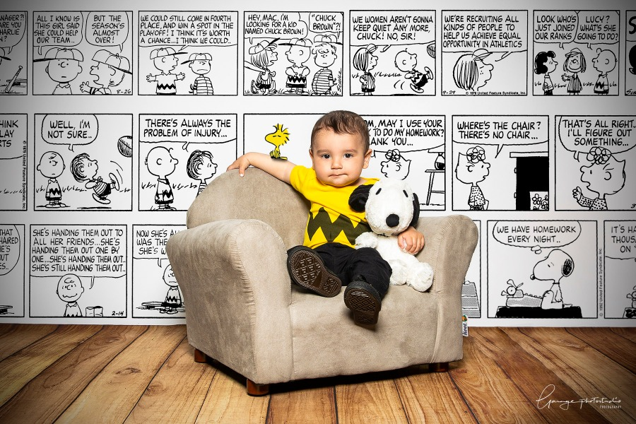 ABCD4037 Charlie Brown snoopy baby garag