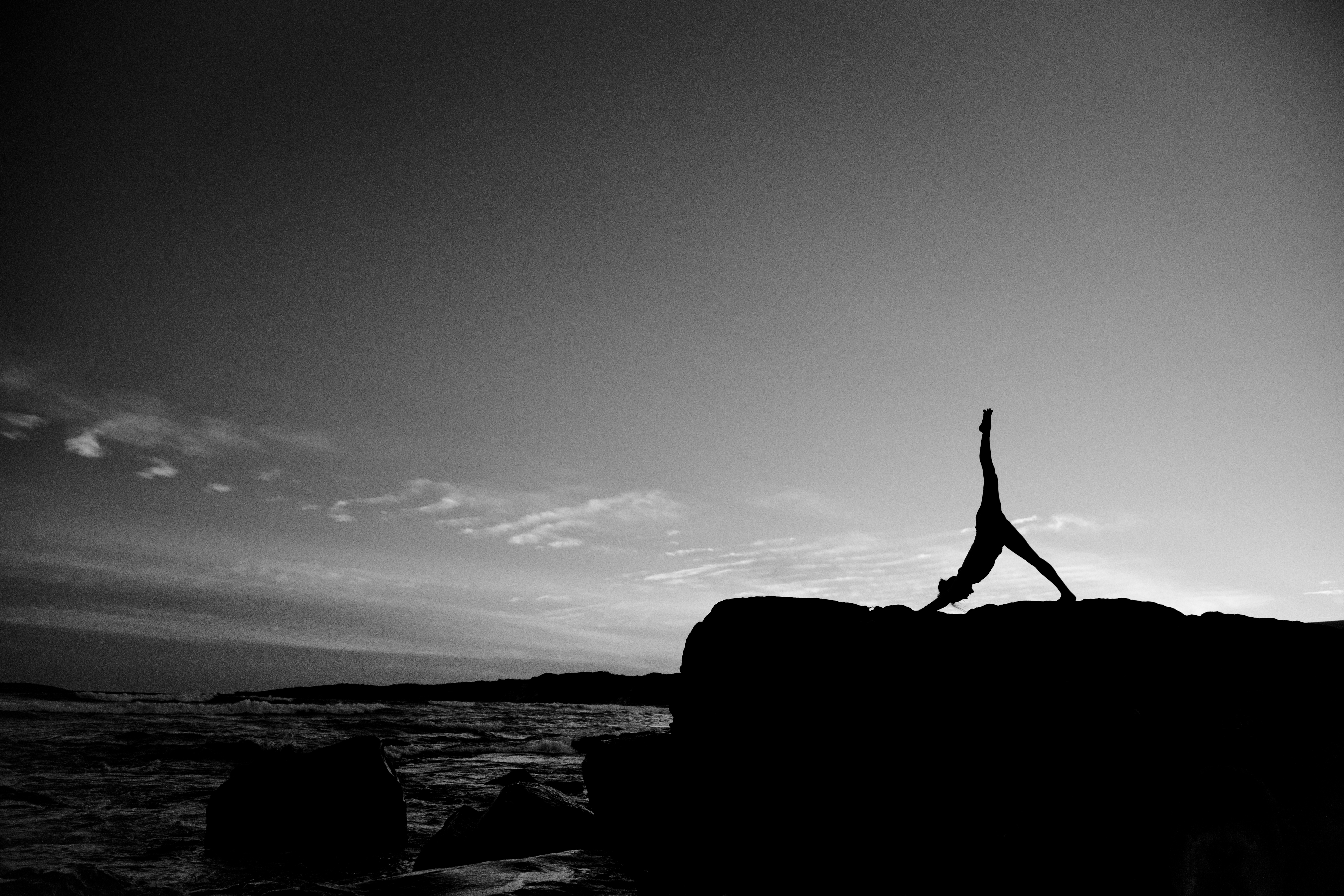 Silhouette Yoga at Sunset