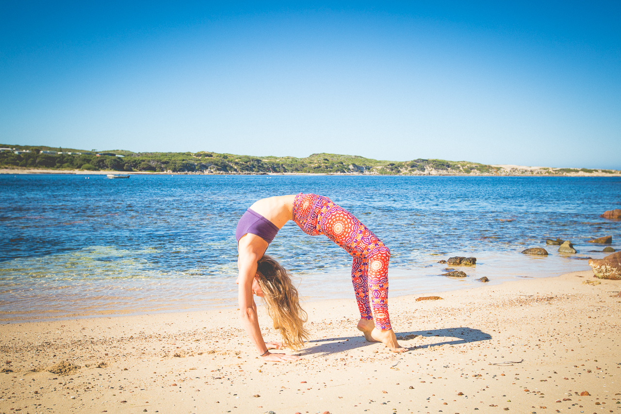 Beach yoga Gracetown, Margaret River