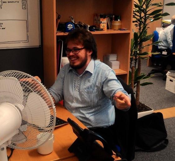 Paul in SiNC office