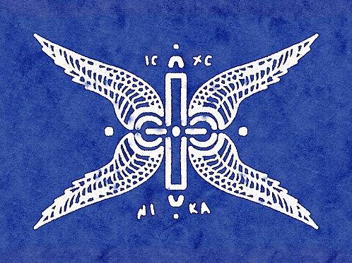 ANGEL CHERUBIM BLUE - A3 PRINT