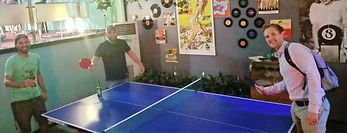 Team See No Evil meeting for The Whanau Challenge for table tennis