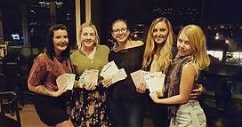 Team Gal Pals meeting for The Whanau Challenge, playing music bingo