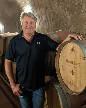 Winemaker Bob Foley in the wine cave