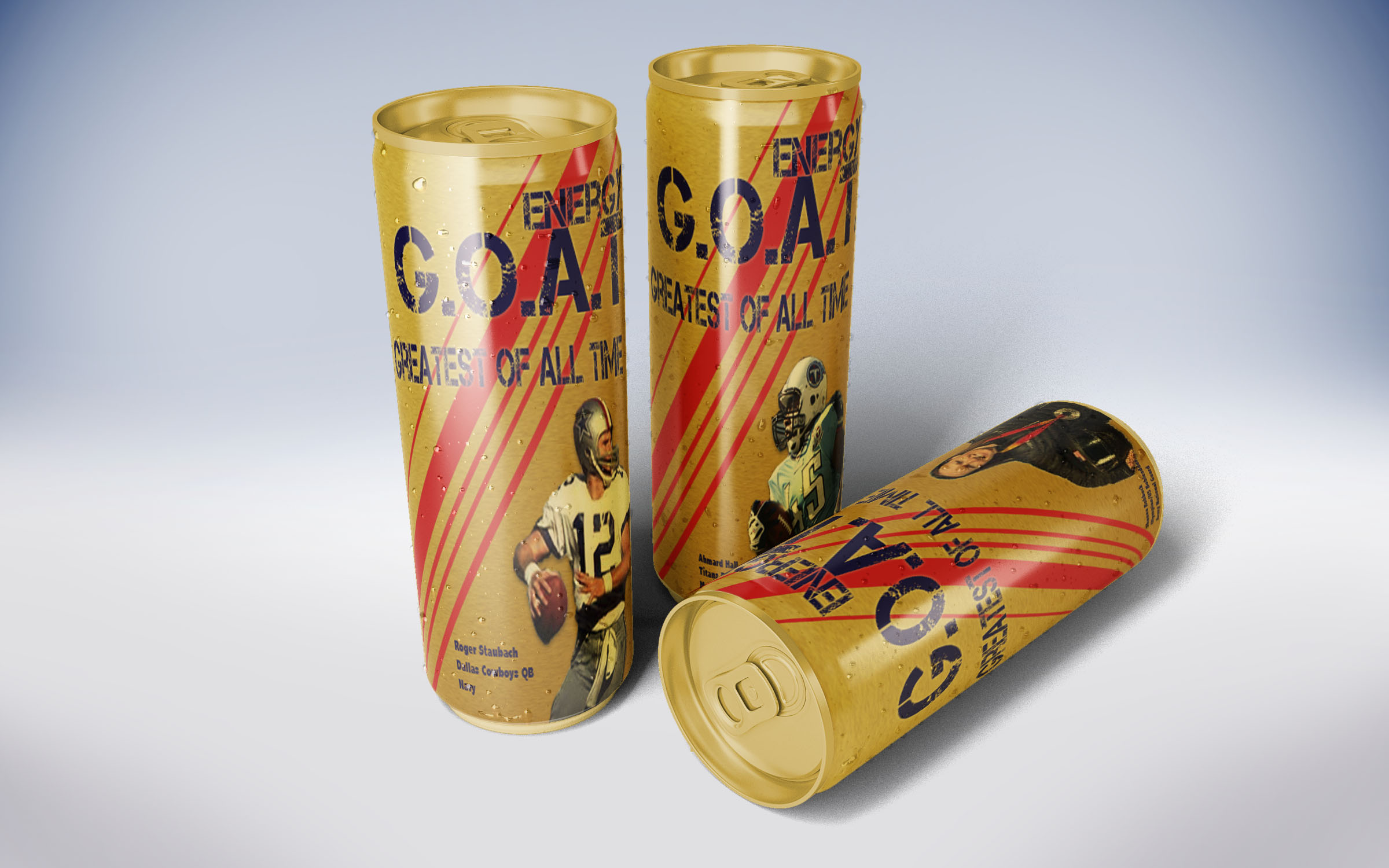 GOAT cans