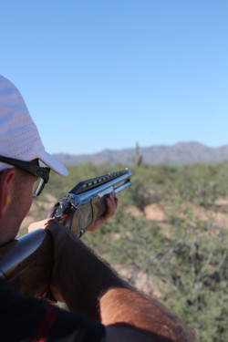 Clay shooter point of view