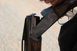 Gun barrel close up