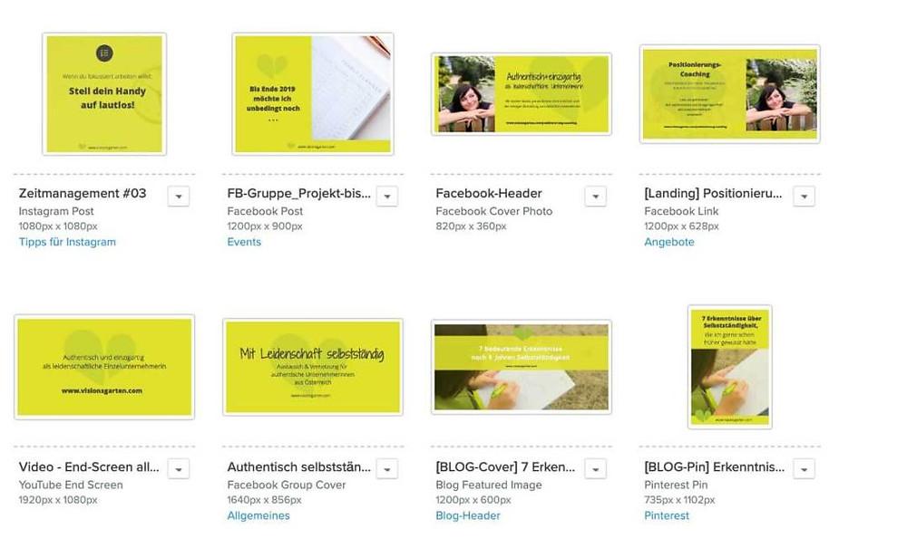 Social Media-Bilder mit Snappa - visionsgarten-Vorlagen