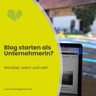 Bloggen als Unternehmerin: worüber, wann und wie?