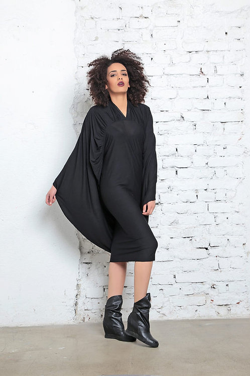 Batwing Cape Dress
