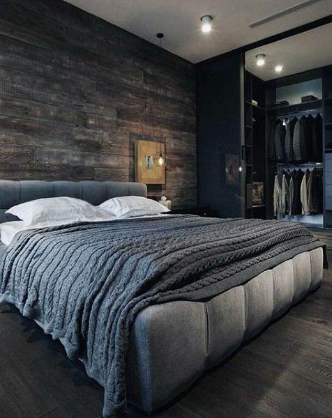Woodsy men's Bedroom