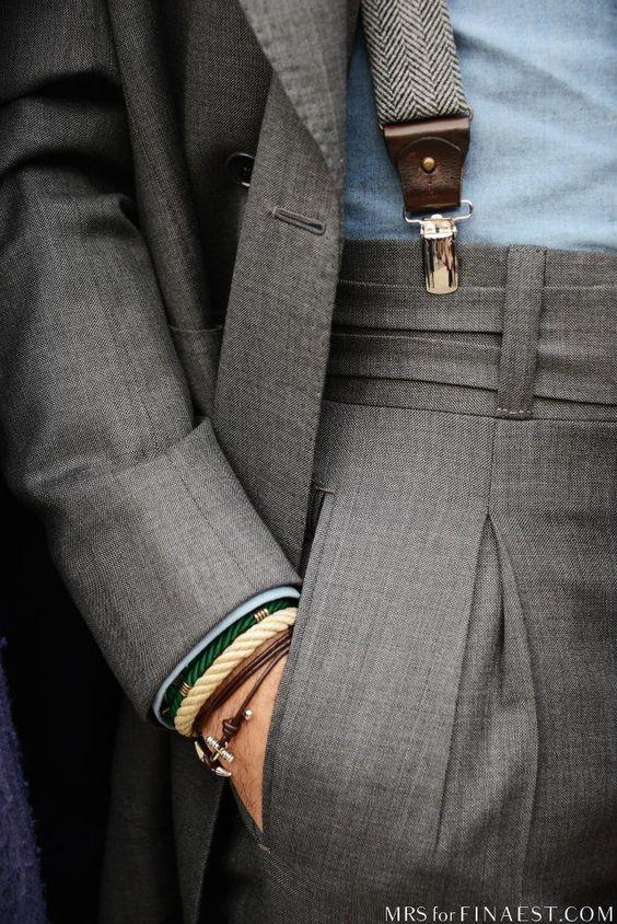 Suspenders High-waist
