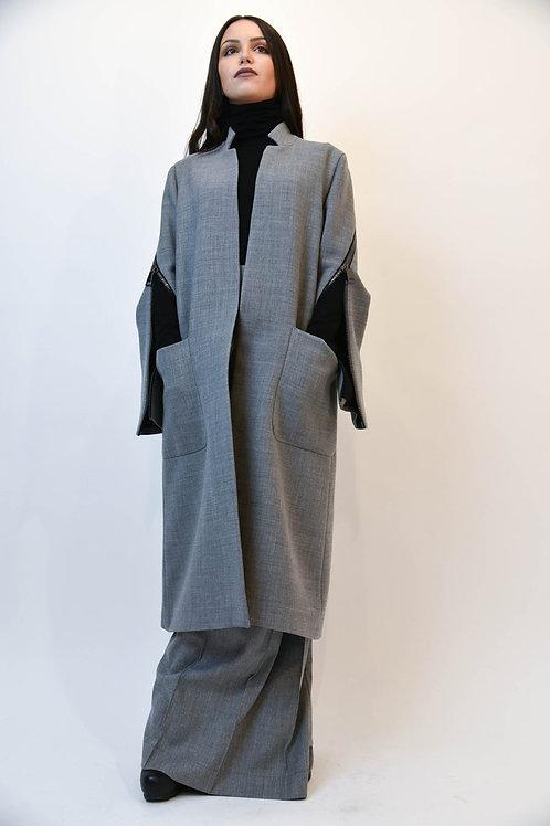 Minimalist Zipper Trench Coat