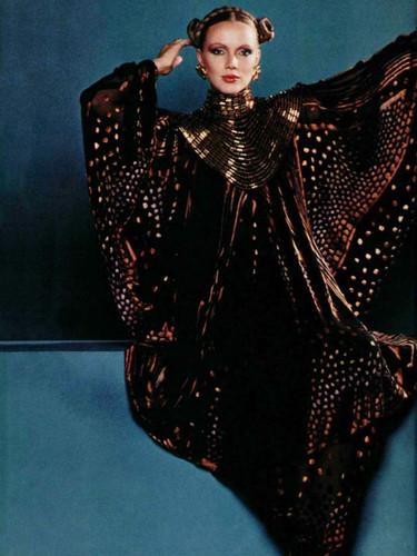 Oversized Elegance dollman sleeve velevt gown