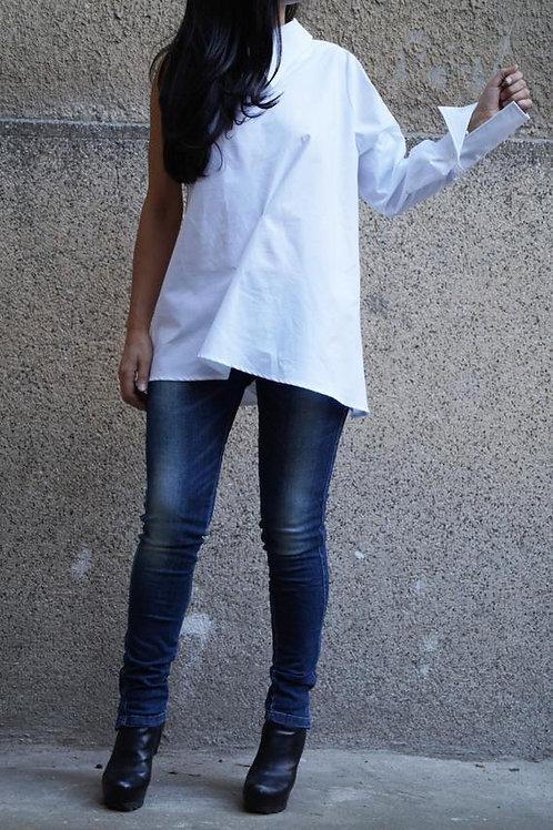 Off Shoulder-Oversized Shirt