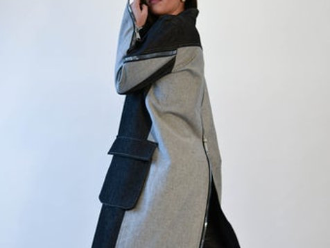 Patch Pocket Denim Trench