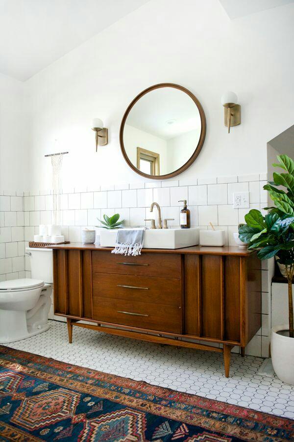 Antique Vanity Bath Inspiration