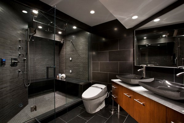 Deep Men's Bathroom Inspiration