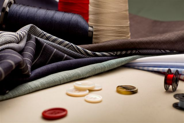 Fabrics and buttons