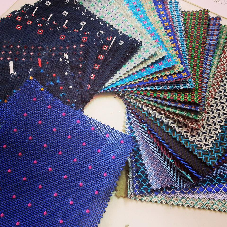 Wool suiting swatches
