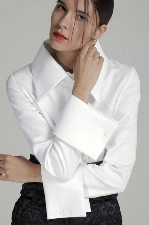 WHITTE Menswear shirt w/ French Cuff