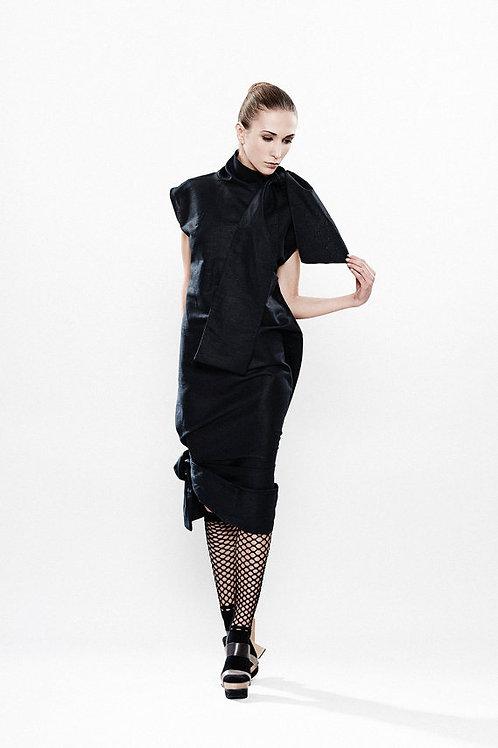 Black Cocktail Dress w/ tie-bows