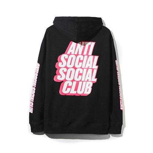 Anti Social Block Me Black Hoodie