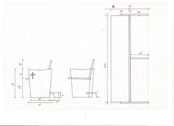 bancos de madeira - desenho