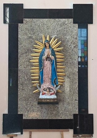painel da padroeira NS Guadalupe