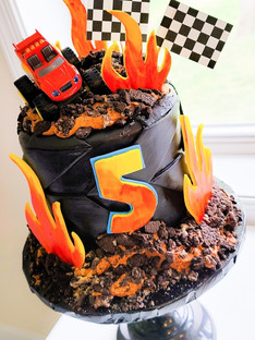 """Blaze"" Themed Cake"