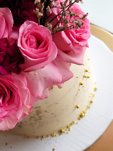 Cake with Floral Topper